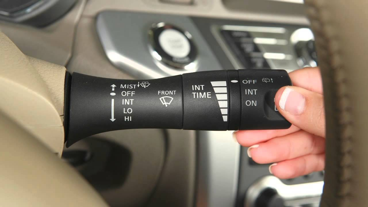 2013 Nissan Murano Windshield Wiper And Washer Controls