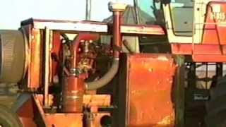 Self Propelled Combine Converted Into A Tractor