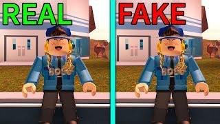 FAKE COP TROLLING in JAILBREAK .. (Roblox Jailbreak)