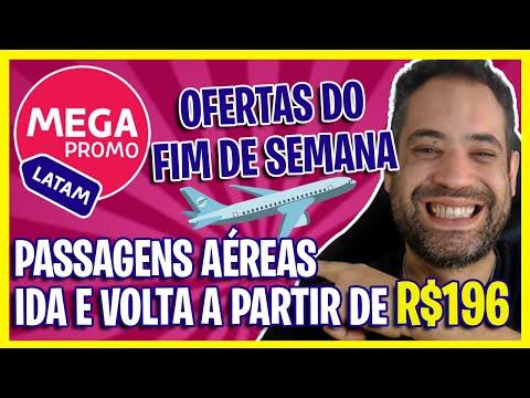 COMPRE JÁ! PASSAGENS AÉREAS PROMOCIONAIS DA LATAM A PARTIR DE R$196 IDA E VOLTA!