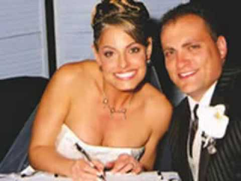 Trish and her husband Ron during their wedding.