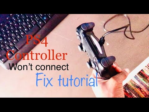 PS4 Controller won't connect (fix tutorial)