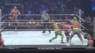 Tag Team Lumberjack Match Tyson Kidd and Cesaro vs The Lucha Dragons