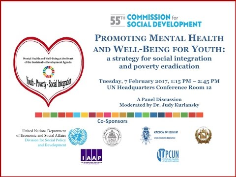 Mental Health & Wellbeing for Youth: UN Event Feb 7, 2017,  Hungary Ambassador Katalin Bogyay