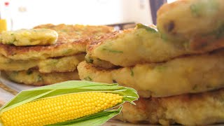 Лепешки на сковороде из кукурузной каши - необычный рецепт