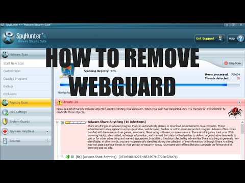 How do i disable webguard on my phone