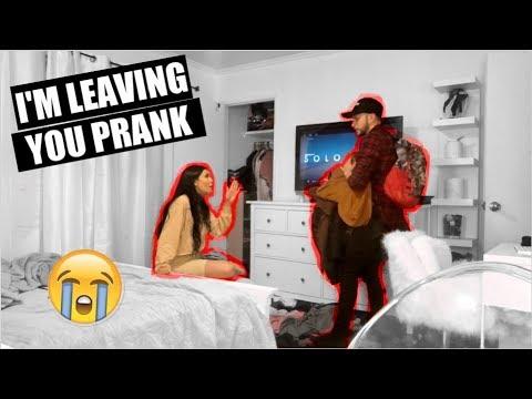 IM LEAVING YOU PRANK, SHE BEATS ME UP!