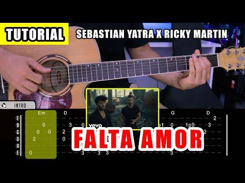 Cómo tocar FALTA AMOR de Sebastian Yatra Y Ricky Martin en Guitarra (Tutorial + PDF GRATIS)