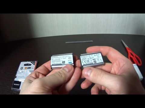NP-BX1 Сравнение китай и оригинал (Обзор батарея Sony Actioncam)