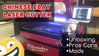 Unboxing, Mods and Review | 60w Red and Black Chinese eBay Laser Cutter