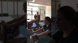 Emily Osment & Jessie Ennis - Hip flexor stretches with Nonna Gleyzer at Body By Nonna.