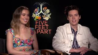 COLE SPROUSE, HALEY LU RICHARDSON, JUSTIN BALDONI Interview: Five Feet Apart