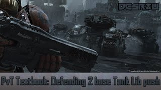 LotV PvT how to beat Siege Tank Liberator Push