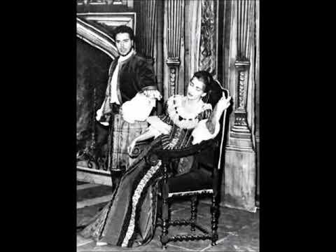 Donizetti - Lucia di Lammermoor - Lucia-Enrico duet - Maria Callas, Rolando Panerai (Berlin, 1955)