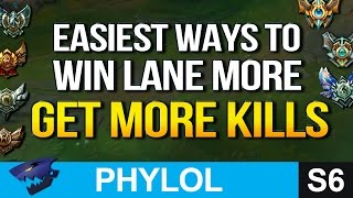 Easiest Ways to WIN LANE MORE and GET MORE KILLS - League Basics 3