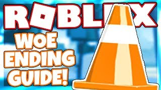 How to get the WOE ENDING + BADGE | Roblox CONE