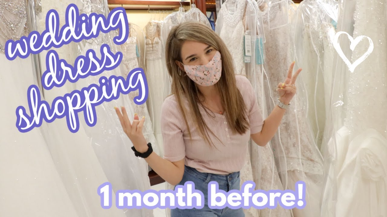 I Bought a NEW Wedding Dress *one month before the wedding*