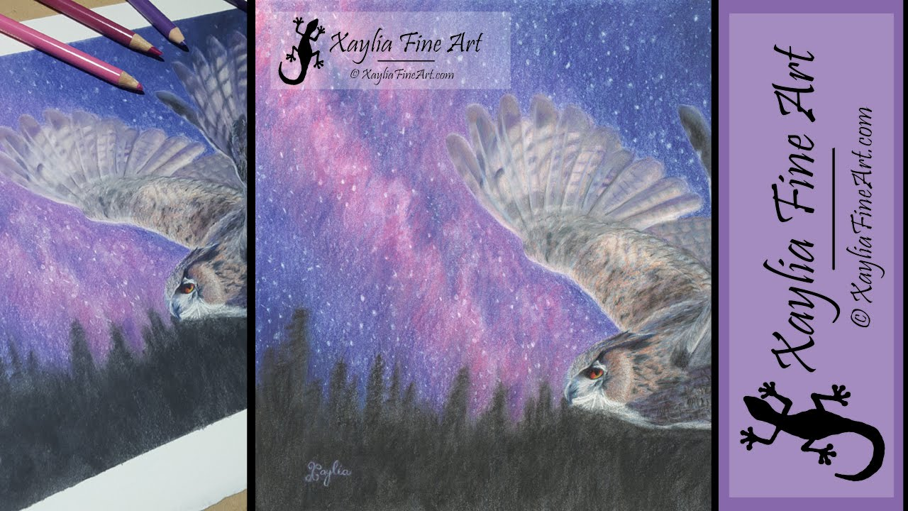 Tutorial How To Draw A Starry Night Sky In Coloured Pencils Youtube
