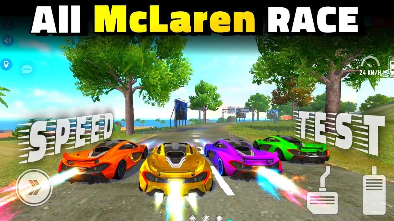 All McLaren Speed Ability Test | All McLaren Skins Race In Free Fire