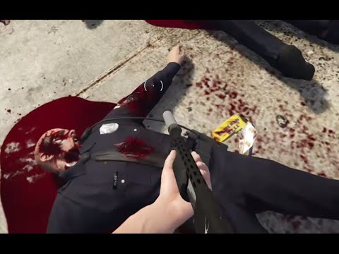 GTA 5 Kills First Person, Killing Police and Civilians, Fun/Brutal Kill