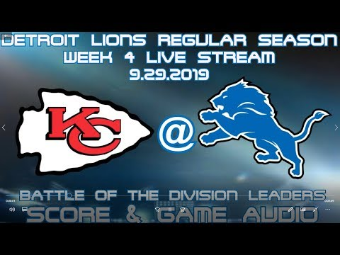 KANSAS CITY CHIEFS @ DETROIT LIONS REGULAR SEASON WEEK 4 LIVE STREAM WATCH PARTY[GAME AUDIO ONLY]