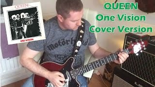 Queen - One Vision guitar cover (backing track download)