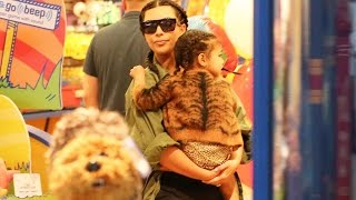 Kim And Kanye Take Nori To Build-A-Bear