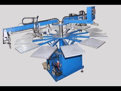 Multicolor Carousel Silk Screen Printing Machine for Garment Tshirt Shoe