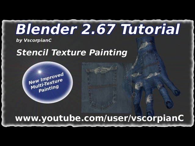 YouTube | Blender Tutorial Stencil Texture Painting