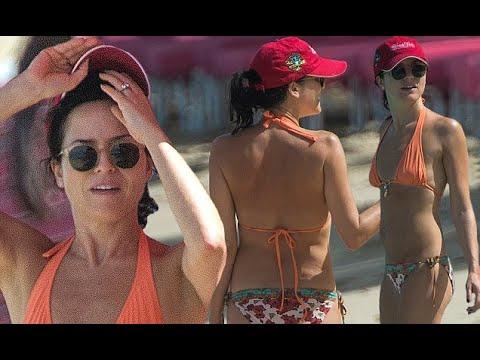Andrea Corr, 43, looks incredible in orange bikini in Barbados
