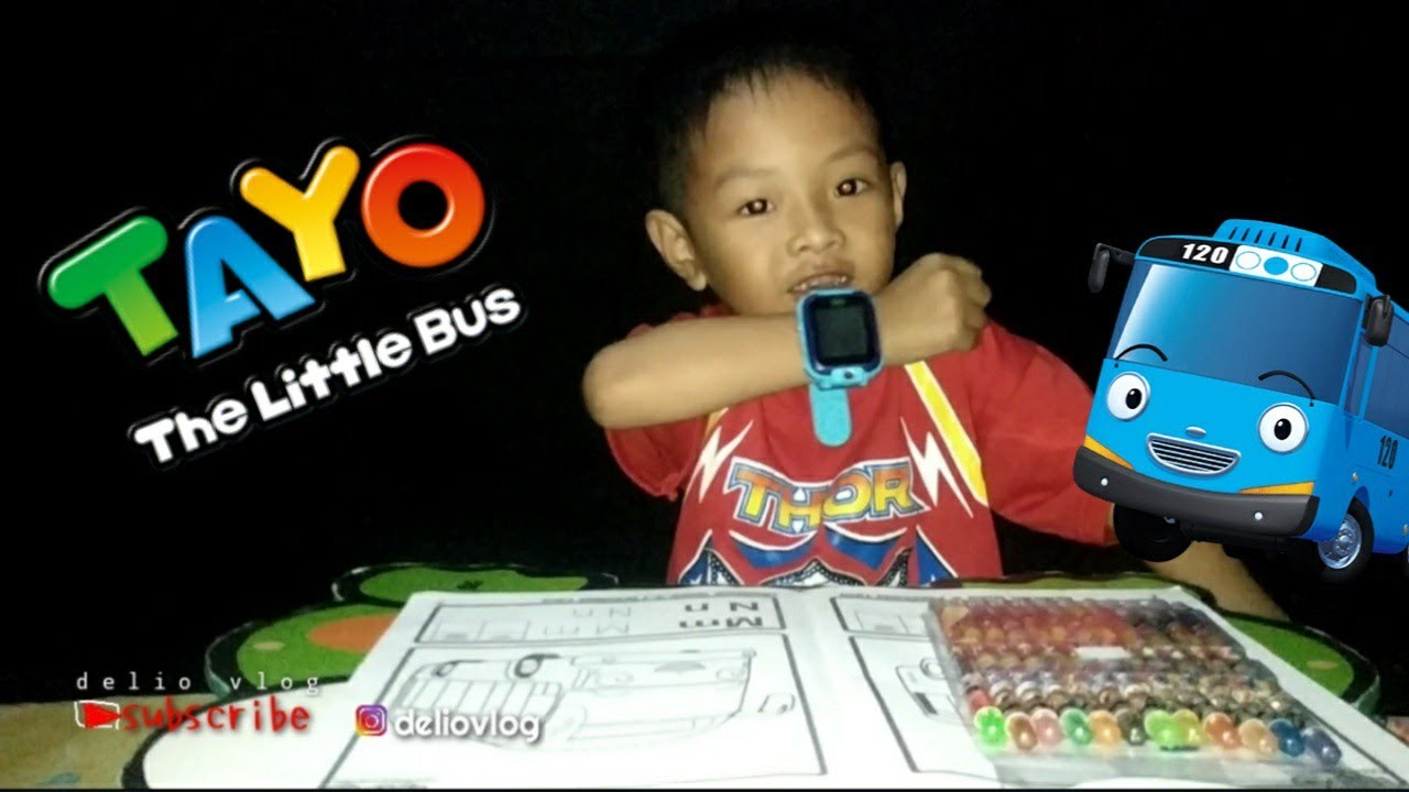 Mewarnai Bus Tayo