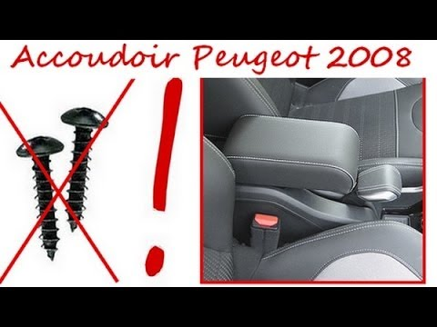 accoudoir peugeot 2008 montage san vis mittelarmlehne. Black Bedroom Furniture Sets. Home Design Ideas