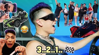 RACING with the LA SQUAD!! | Louie's Life