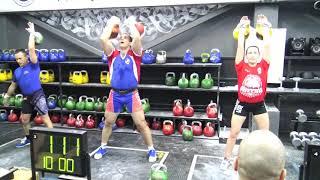 Гиревой спорт Длинный цикл 28 кг Иван Денисов 117 подъемов Белые Ночи 2020