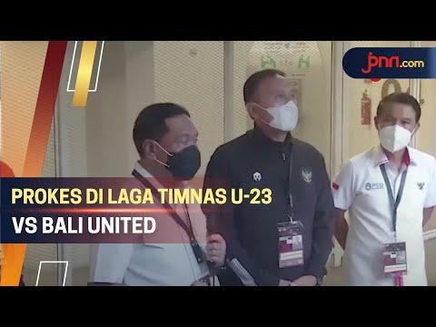 Menpora Zainudin Amali Sidak Laga Timnas U-23 vs Bali United