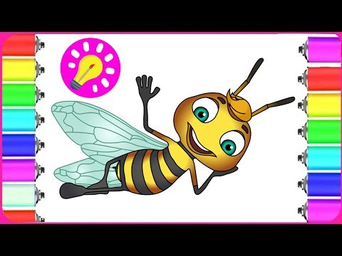 How to Draw Bee for Kids | Best Coloring Pages | #Coloring Book for #Kids | Art Colors for Children