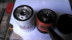 Oil filter options for riding lawn tractors