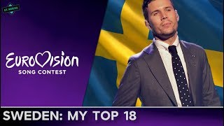 Sweden In Eurovision: MY TOP 18 (2000-2017)