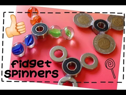 DIY Fidget Spinners | 3 Ways To Make A Fidget Spinner Toy with Bearings!