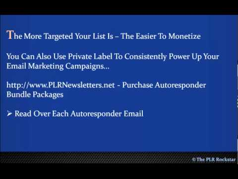 How to build an e-mail list with PLR Articles.