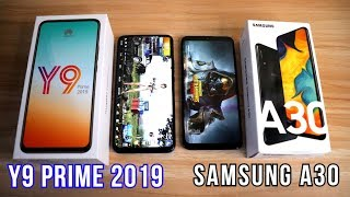HUAWEI Y9 PRIME 2019(Pop-Up Camera) Vs SAMSUNG A30 COMPARISON