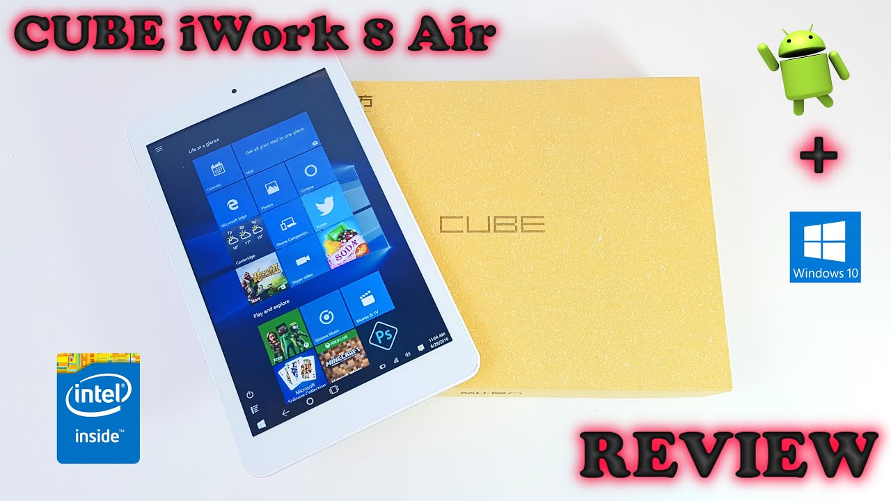 Cube iwork 12 -- The 2 in 1 Tablet with Foldable Stand - YouTube