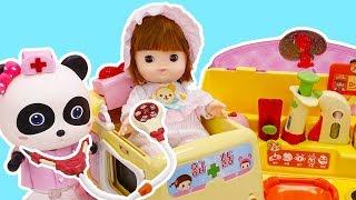 Baby Panda Pretend Play with Doctor Toys | Baby Shark, Poli Car | Panda Cartoon | Kids Toys | ToyBus