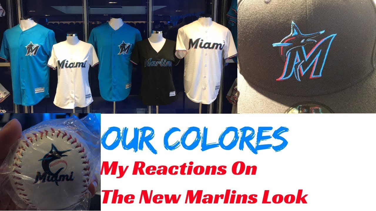 promo code 939e7 df736 OUR COLORES!!   My Reaction & Thoughts On Miami Marlins New Logo And  Uniforms