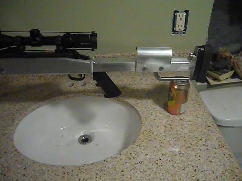 Custom Machined Aluminum Rifle Stock Build