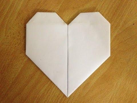 Cách gấp hình trái tim   Origami Heart