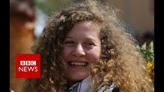 Palestinian teenager Ahed Tamimi released from prison - BBC News