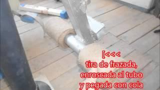 Maquina casera para trabajar las piernas.Homemade machine to work the legs