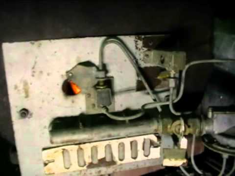 Печка в баню на газу с вентилятором