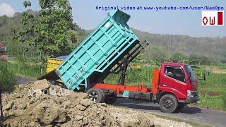 Dump Truck Unloading Dirt Toyota Dyna 130HT